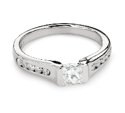 "Engagement ring with diamond ""Princess 89"""