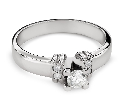 "Engagment ring with brilliants ""Grace 127"""