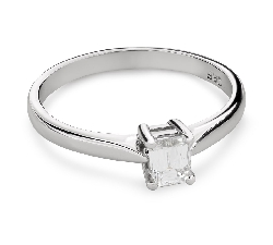 "Engagement ring with diamond ""Strength 107"""