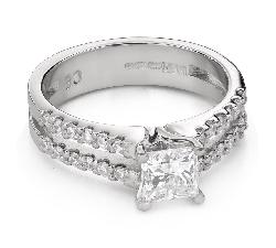 """Teemantidega kihlasõrmus """"Printsess 93"""""""