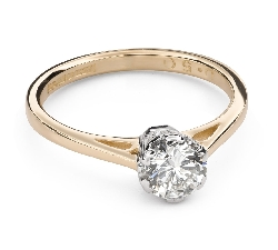 """Engagement ring with brilliant """"The only one 119"""""""