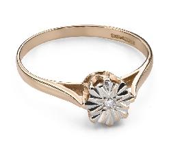 """Teemantiga kihlasõrmus """"Armastatu 133"""""""
