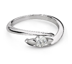 """Engagement ring with brilliant """"In love 54"""""""