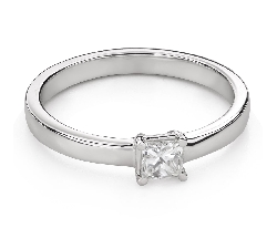 """Engagement ring with diamonds """"Princess 97"""""""