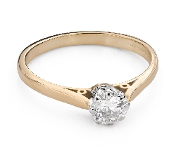 """Engagement ring with brilliant """"The only one 125"""""""