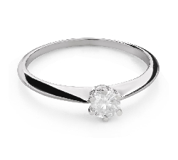 """Engagement ring with brilliant """"The queen 45"""""""