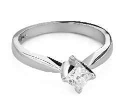 "Engagement ring with diamond ""Princess 99"""