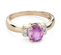 """Gold ring with gemstones """"Colors 92"""""""