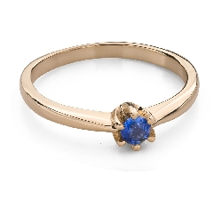"""Gold ring with gemstones """"Colors 93"""""""