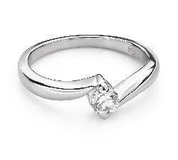 """Engagement ring with brilliant """"In love 56"""""""