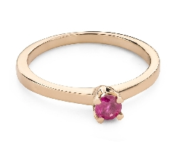 """Gold ring with gemstones """"Colors 91"""""""
