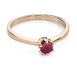 """Gold ring with gemstones """"Colors 94"""""""