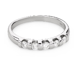 """Engagment ring with brilliants """"Diamond strip 54"""""""