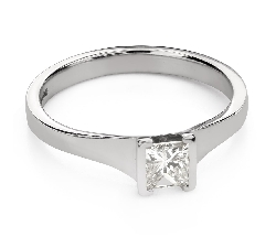 """Engagement ring with diamonds """"Princess 104"""""""