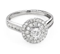 """Teemantidega kihlasõrmus """"Briljantide kimp 53"""""""