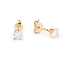 "Gold earrings with brilliants ""Classic 35"""