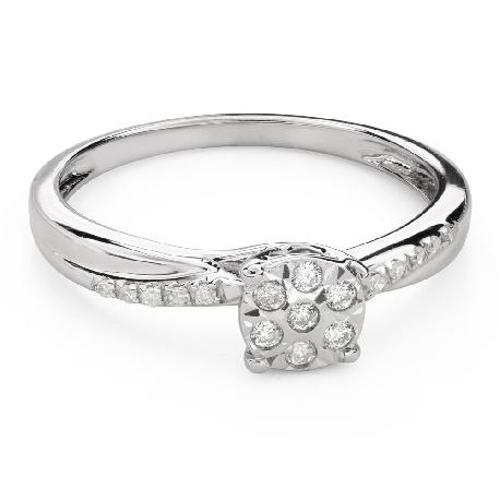 """Teemantidega kihlasõrmus """"Armastatu 140"""""""