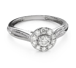 """Engagement ring with brilliant """"Diamond flower 50"""""""