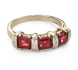 """Gold ring with gemstones """"Colors 95"""""""