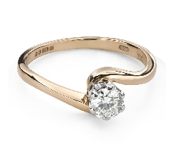 """Engagement ring with brilliant """"In love 58"""""""