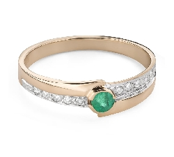"""Gold ring with gemstones """"Colors 96"""""""