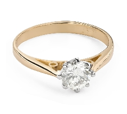 """Engagement ring with brilliant """"The only one 135"""""""