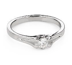 """Engagement ring with brilliant """"The only one 140"""""""
