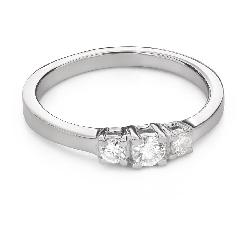 """Teemantidega kihlasõrmus """"Triloogia 43"""""""