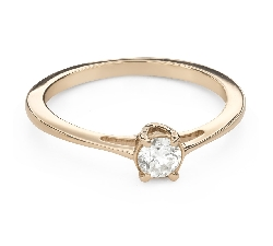 """Engagement ring with brilliant """"Goddess 179"""""""