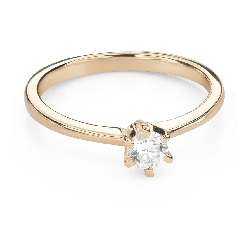 """Engagement ring with brilliant """"The queen 53"""""""