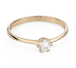 """Engagement ring with brilliant """"The queen 54"""""""