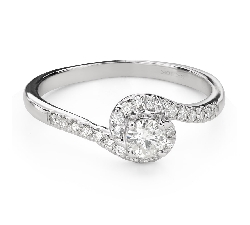 """Engagment ring with brilliants """"Hurricanes 40"""""""