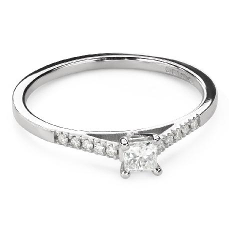 """Teemantidega kihlasõrmus """"Printsess 107"""""""
