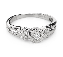 """Engagement ring with diamonds """"Lover 150"""""""