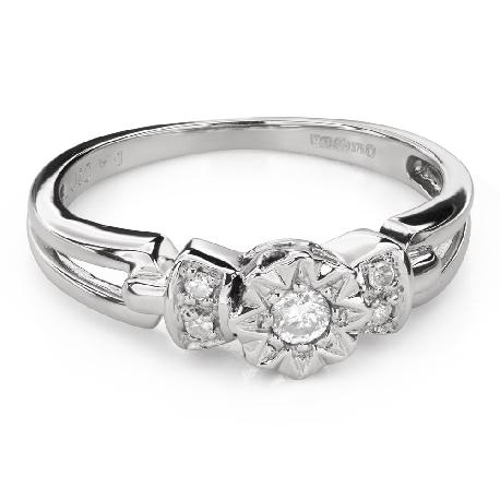 """Teemantidega kihlasõrmus """"Armastatu 150"""""""
