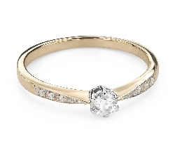 """Engagment ring with brilliants """"Grace 145"""""""