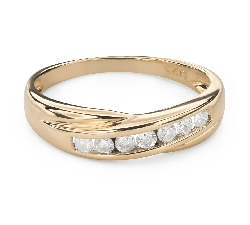 """Engagment ring with brilliants """"Diamond strip 55"""""""