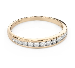 """Engagment ring with brilliants """"Diamond strip 57"""""""