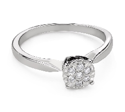 """Engagment ring with brilliants """"Lover 152"""""""