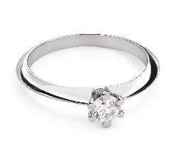 """Engagement ring with brilliant """"The queen 60"""""""