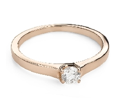 """Engagement ring with brilliant """"Goddess 187"""""""