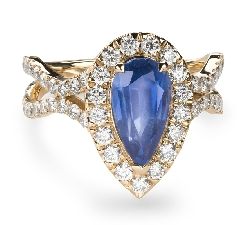 """Engagement ring with gemstones """"Sapphire 37"""""""