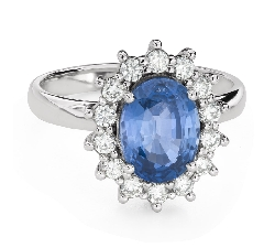 """Engagement ring with gemstones """"Sapphire 38"""""""