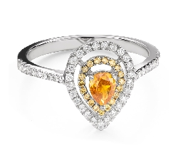 """Engagement ring with diamonds """"Queen of the Heart 32"""""""