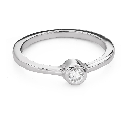 """Engagement ring with brilliant """"Between the rocks 49"""""""