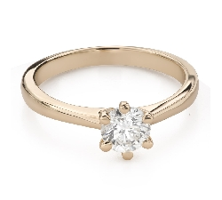 """Engagement ring with brilliant """"The queen 67"""""""