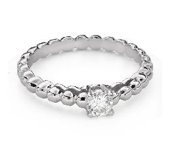 """Engagement ring with brilliant """"Strength 128"""""""