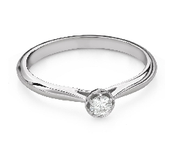 """Engagement ring with brilliant """"Flower 7"""""""