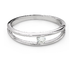 """Engagement ring with brilliant """"Between the rocks 51"""""""