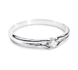 """Sužadėtuvių žiedas su Briliantu """"Subtilioji 16"""""""